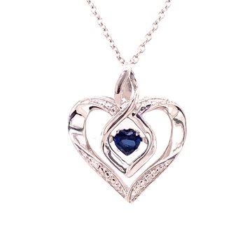 Created Blue Sapphire Pendant
