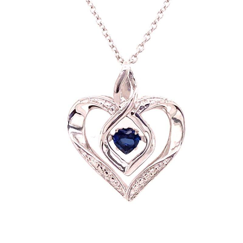 Colored Stone Fashion Created Blue Sapphire Pendant