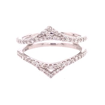 Diamond Wedding Band Insert Ring
