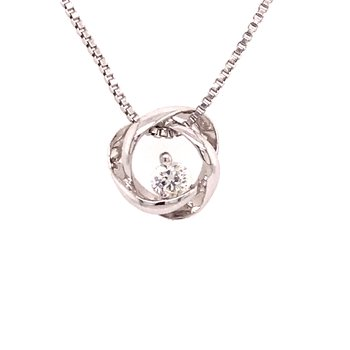 Time and Eternity Diamond Pendant