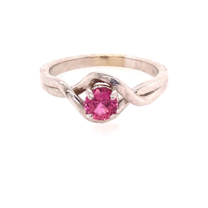 Colored Stone Fashion Pink Sapphire Fashion Ring