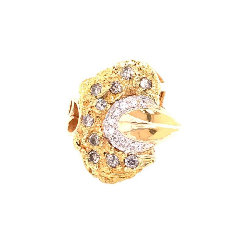 Estate Diamond Nugget Fashion Ring