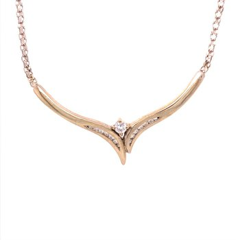V Style Diamond Necklace