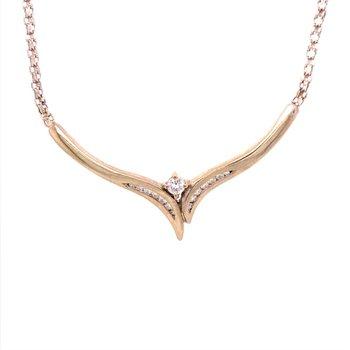 V Style Diamond Necklace