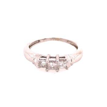 Past Present Future Diamond Ring