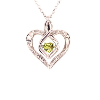 Created Peridot & Diamond Pendant