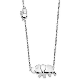 Mother and Baby Elephant Pendant