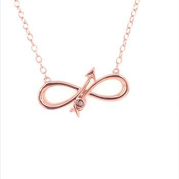Infinity Arrow Pendant