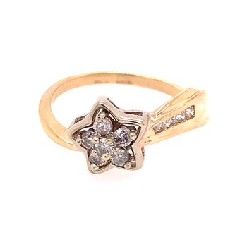 Shooting Star Diamond Fashion Ring