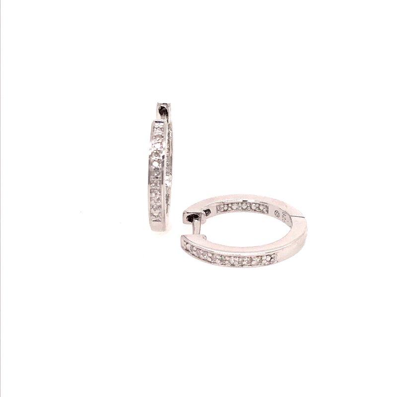 Diamond Fashion Huggie Earrings
