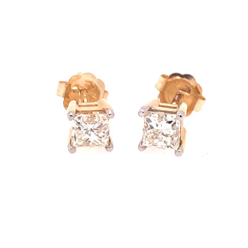 Diamond Fashion Princess Stud Earrings
