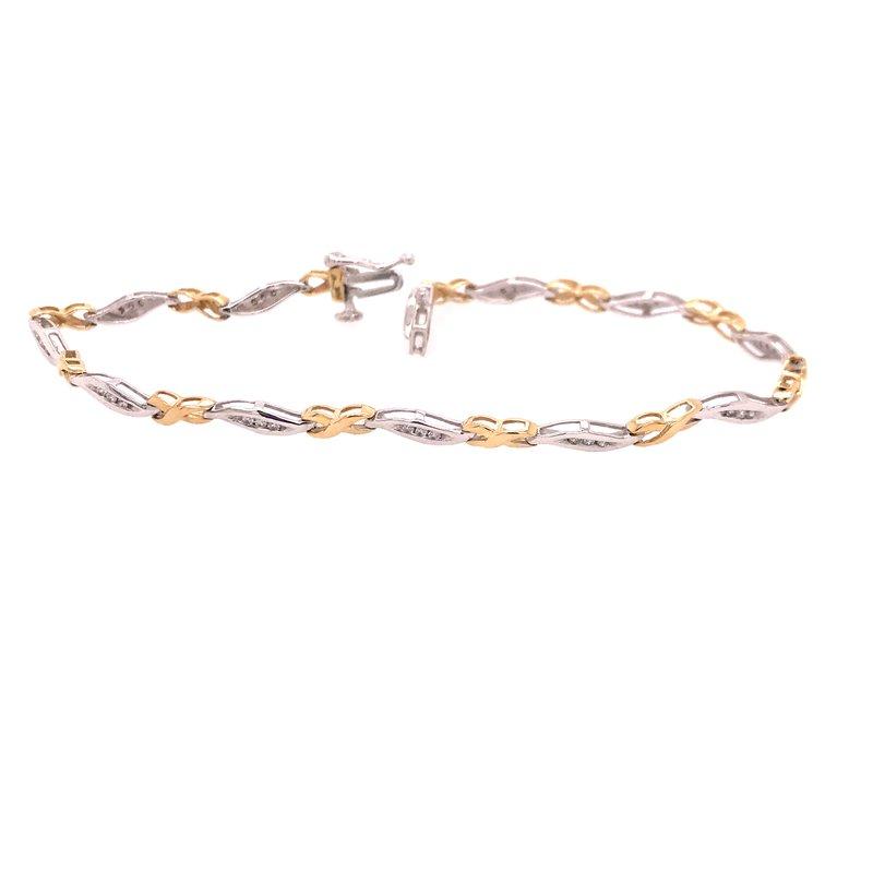 Diamond Fashion Two Tone Bracelet