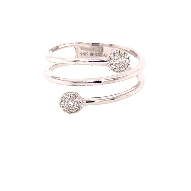 Diamond Fashion Swirl Design Ring