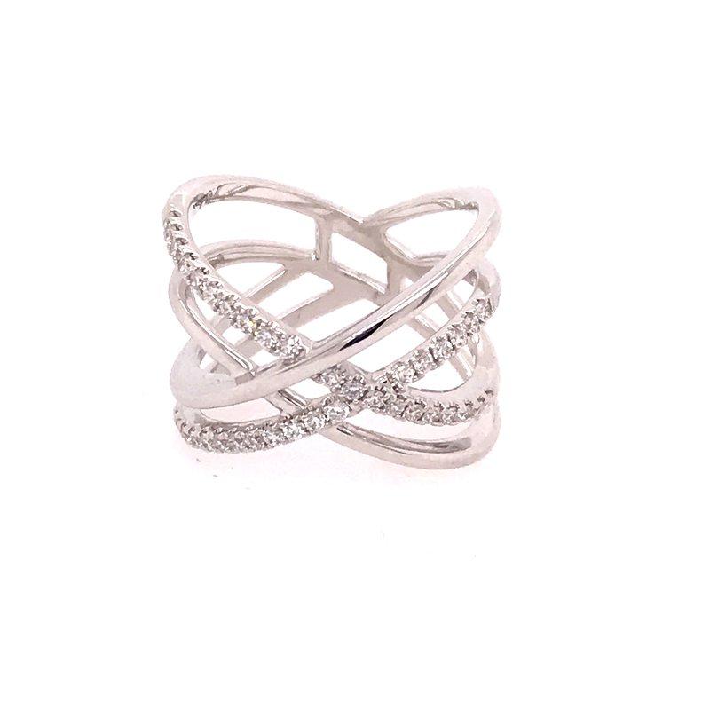 Diamond Fashion Crossover Ring