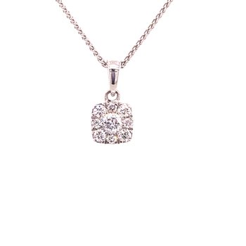 Diamond Cluster Fashion Pendant