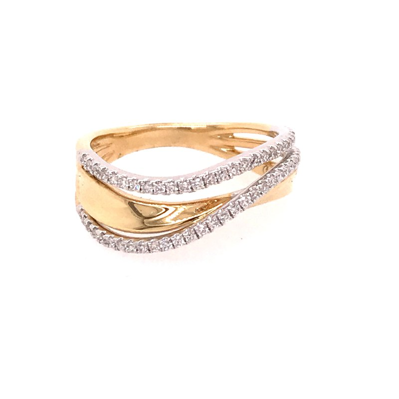 Diamond Fashion Wave Ring