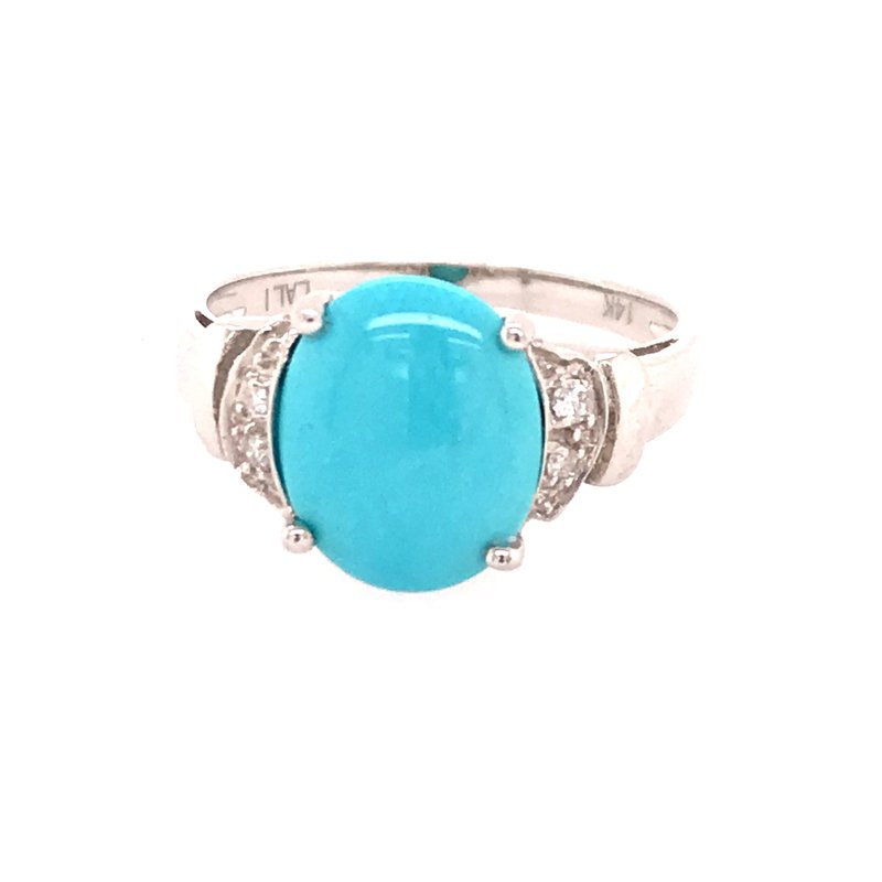 Colored Stone Fashion Turquoise Fashion Ring