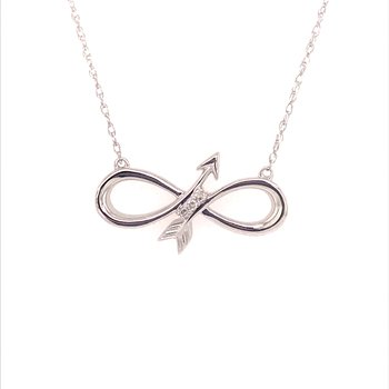 Infinity Arrow Pendant