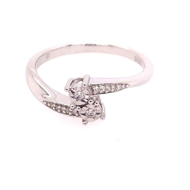 Diamond Fashion Two Stone Ring