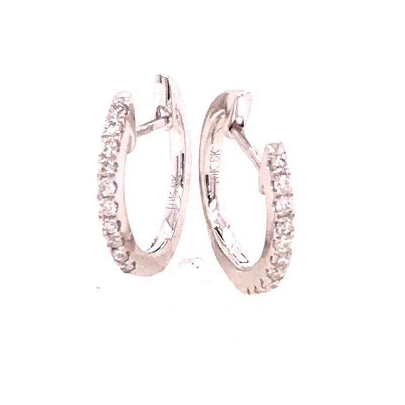 Diamond Fashion Hoop Earrings