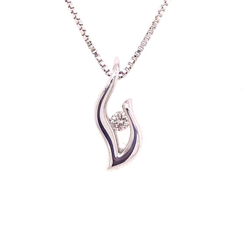 Dean's Signature Eternal Flame Diamond Pendant