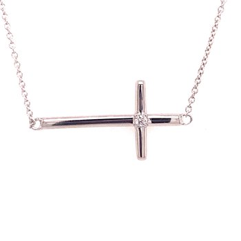 Sideways Cross Pendant