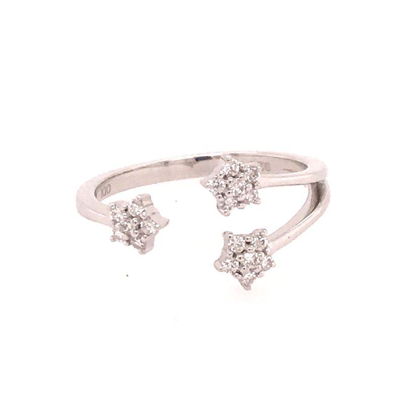 Diamond Fashion Triple Star Ring