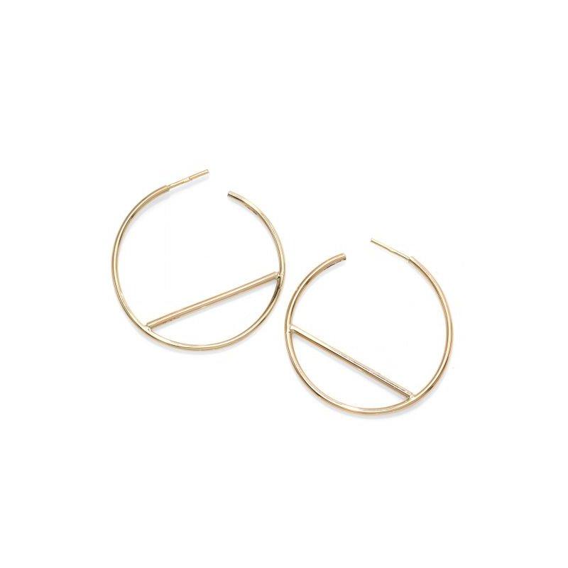 Gold Fashion Large Hoop Earrings