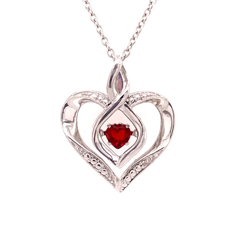 Colored Stone Fashion Created Garnet & Diamond Pendant