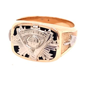 Gold Fashion Masonic Ring