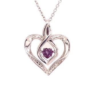 Created Alexandrite & Diamond Pendant