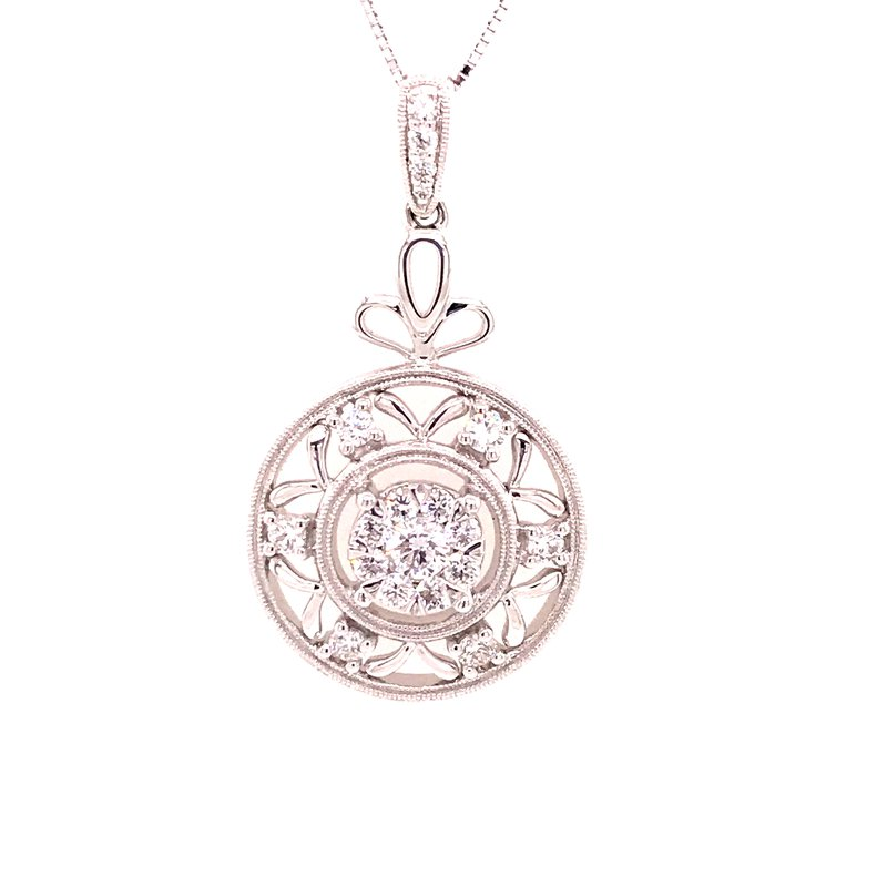 Diamond Fashion Circle Pendant
