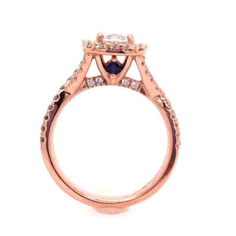 Estate Vera Wang Diamond Engagement Ring