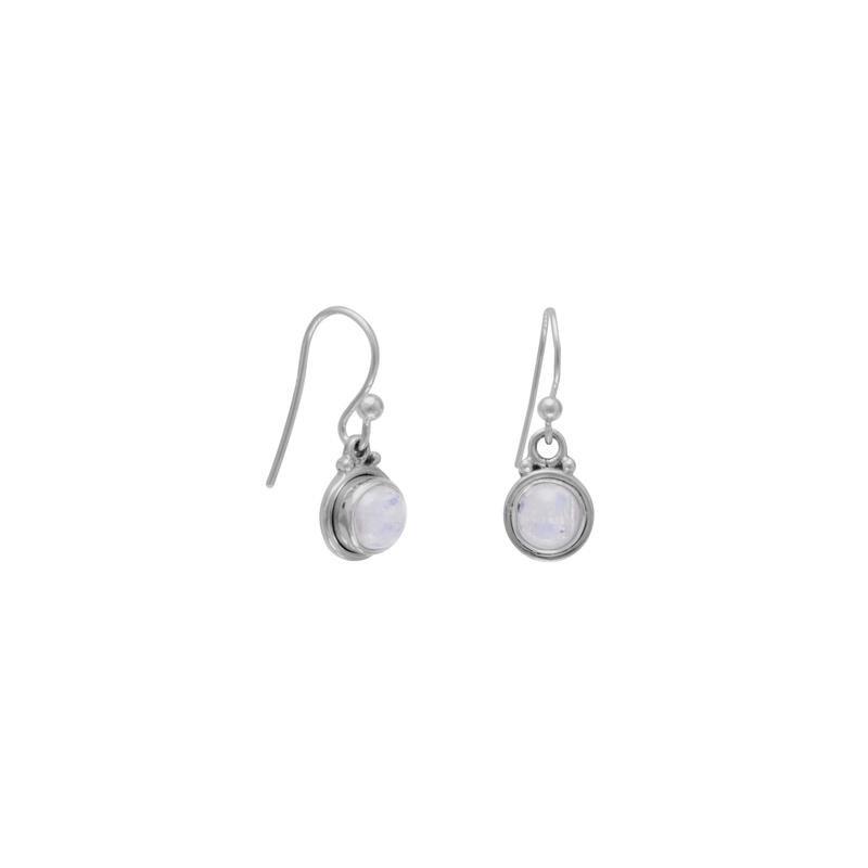 Fashion Jewelry Moon Stone Dangle Earrings
