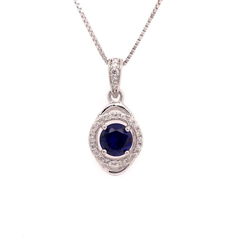 Colored Stone Fashion Blue Sapphire Pendant