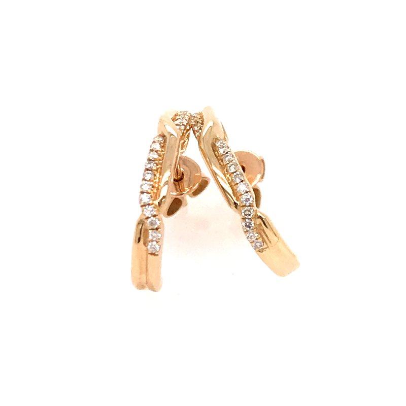 Diamond Fashion J Hoop Earrings