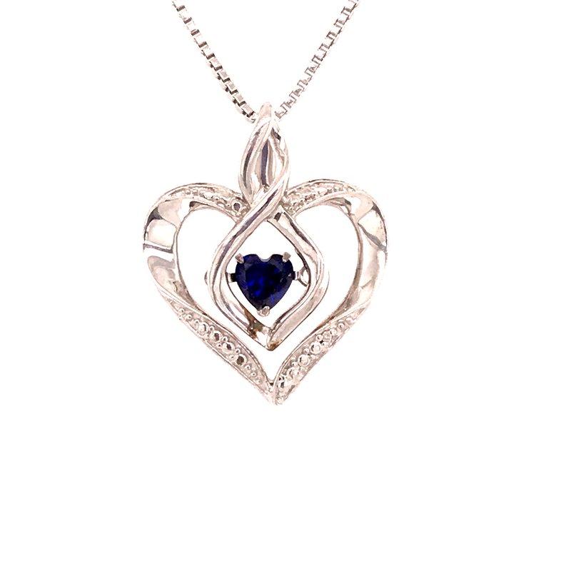 Colored Stone Fashion Created Sapphire & Diamond Pendant