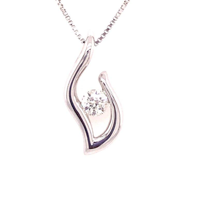 Eternal Flame Diamond Pendant