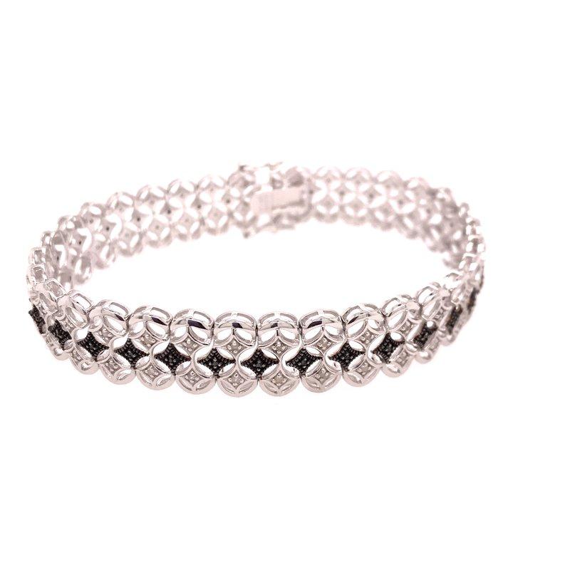 Diamond Fashion Black and White Diamond Fashion Bracelet