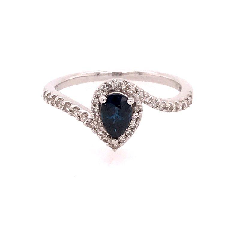 Colored Stone Fashion Blue Sapphire Ring