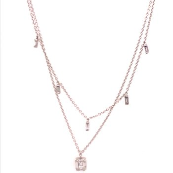 Diamond Two Strand Fashion Necklace