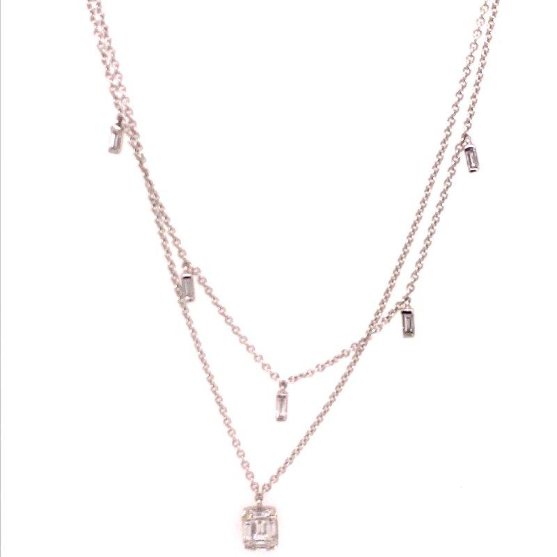 Diamond Fashion Diamond Two Strand Fashion Necklace