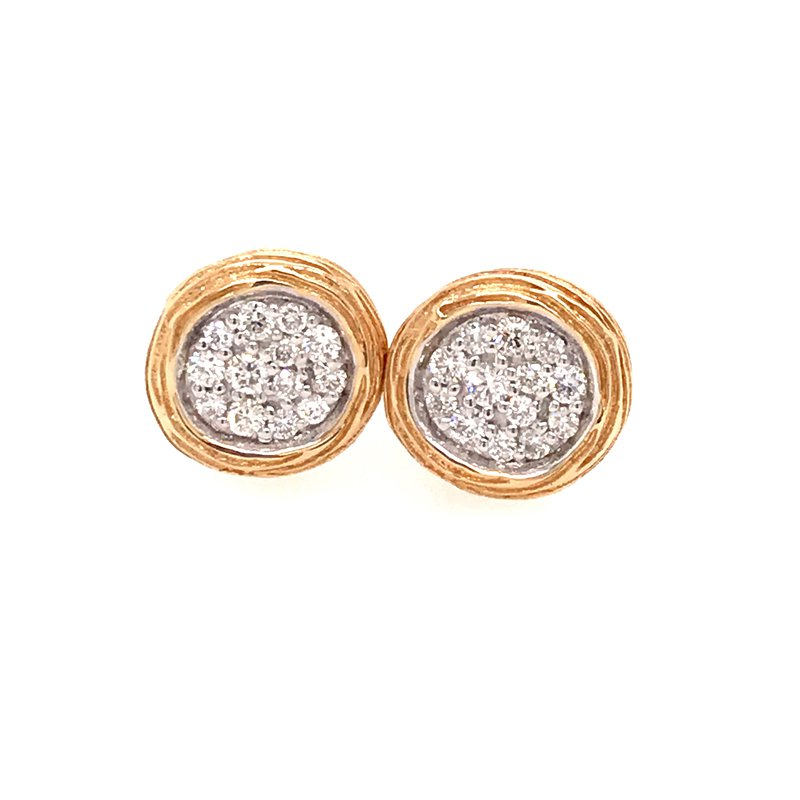 Diamond Fashion Round Cluster Earrings