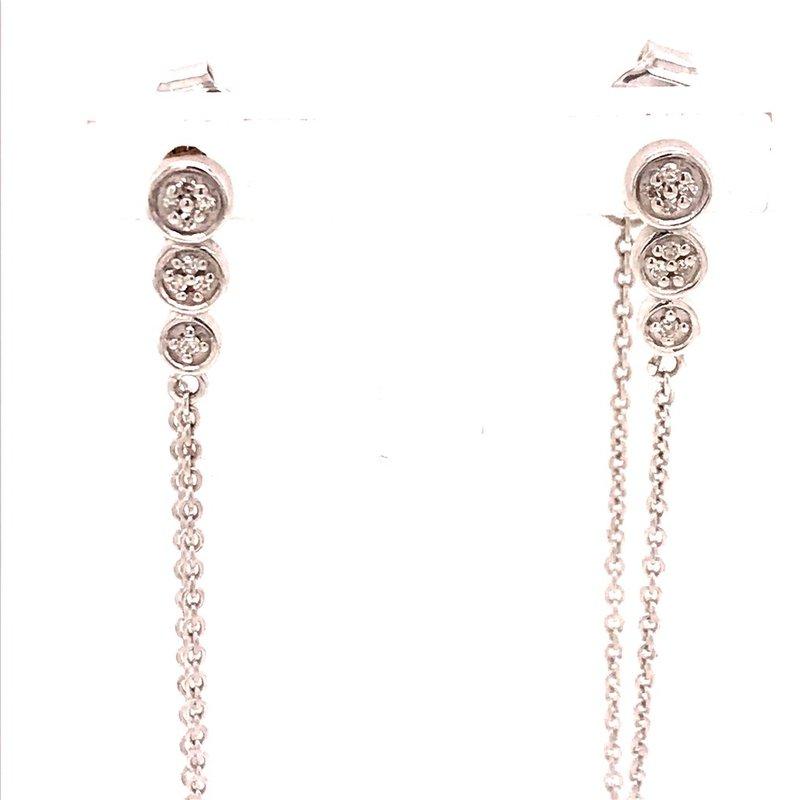 Diamond Fashion Chain Dangle Earrings