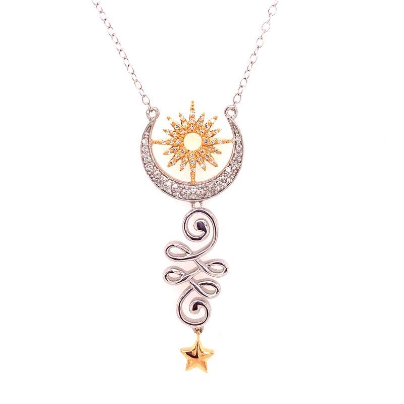 Diamond Fashion Crescent Moon Diamond Pendant