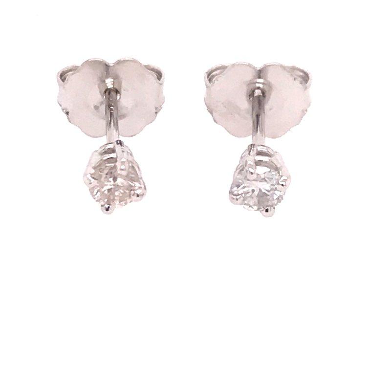 Diamond Fashion Round Stud Earrings
