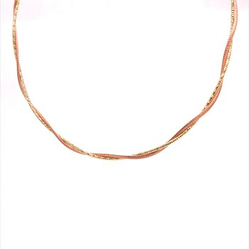 Gold Twisted Fashion Necklace