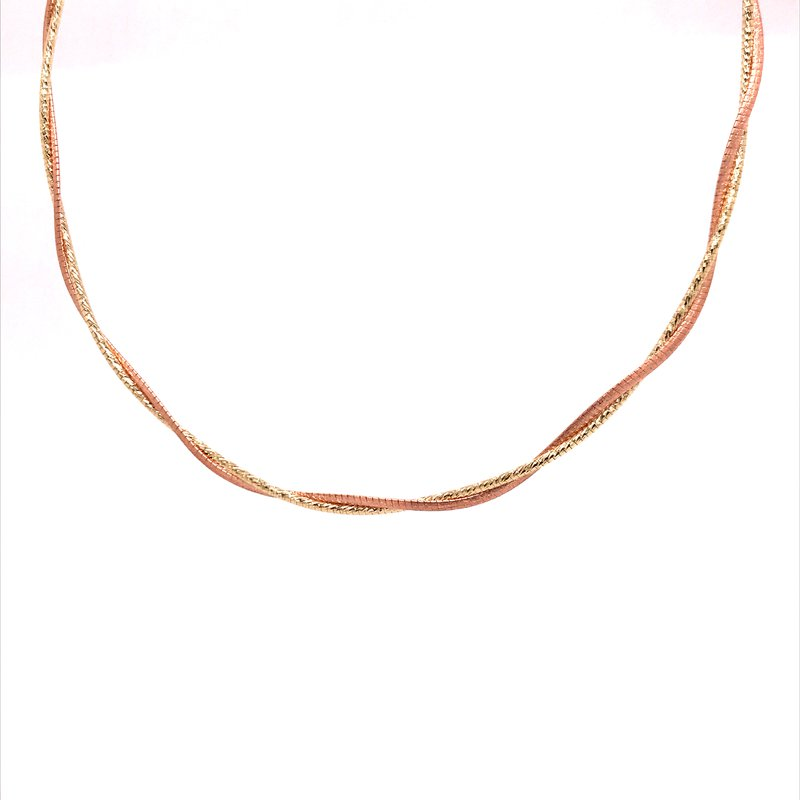 Gold Fashion Gold Twisted Fashion Necklace