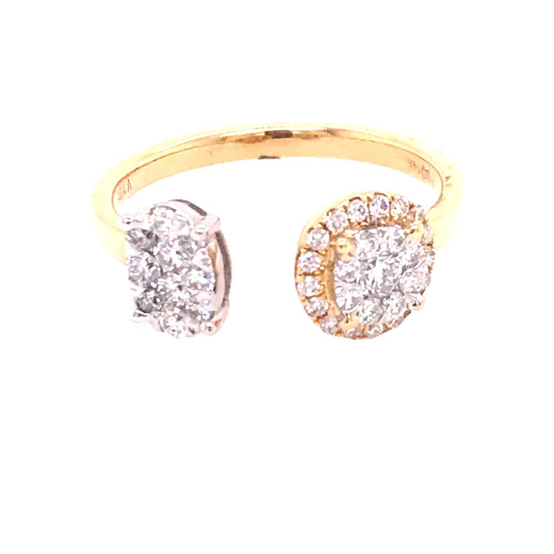 Diamond Fashion Split Top Ring