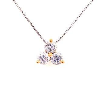 Three Diamond Fashion Pendant